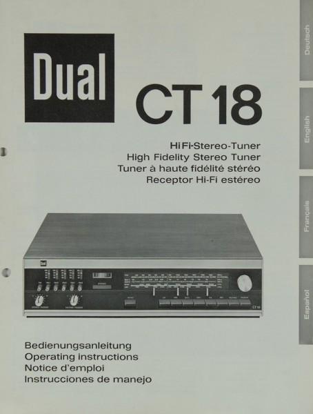 Dual CT 18 Bedienungsanleitung