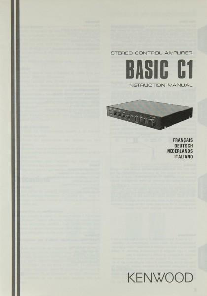 Kenwood Basic C 1 Bedienungsanleitung