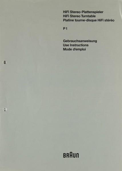 Braun P 1 Bedienungsanleitung