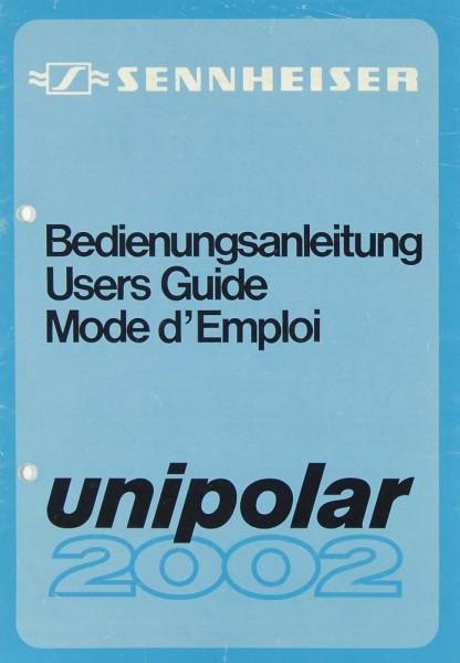 Sennheiser Unipolar 2002 Bedienungsanleitung