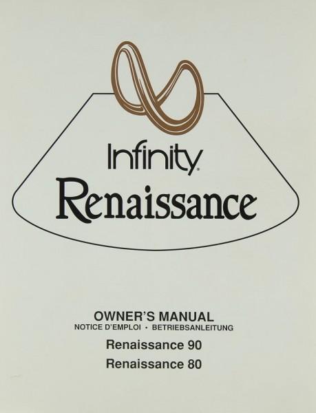 Infinity Renaissance 90 / 80 Bedienungsanleitung