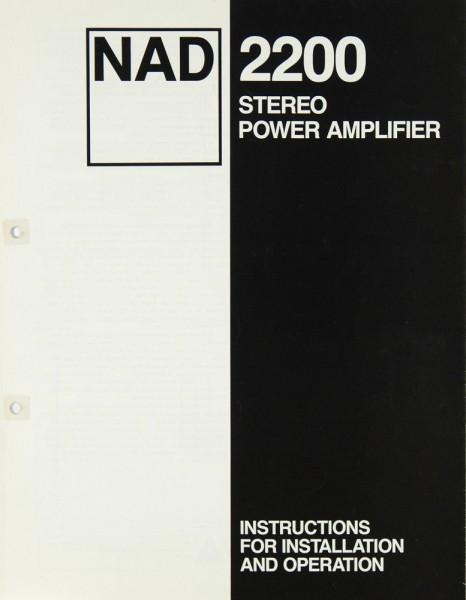 NAD 2200 Manual