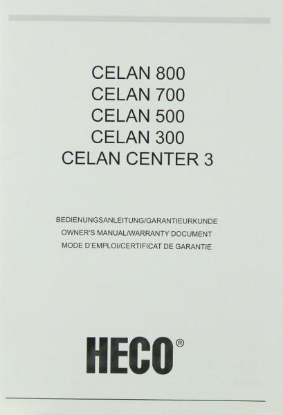 Heco Celan 800 / 700 / 500 / 300 / Celan Center 3 Bedienungsanleitung