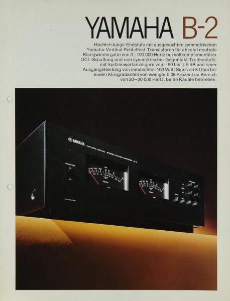 Yamaha B-2 Prospekt / Katalog