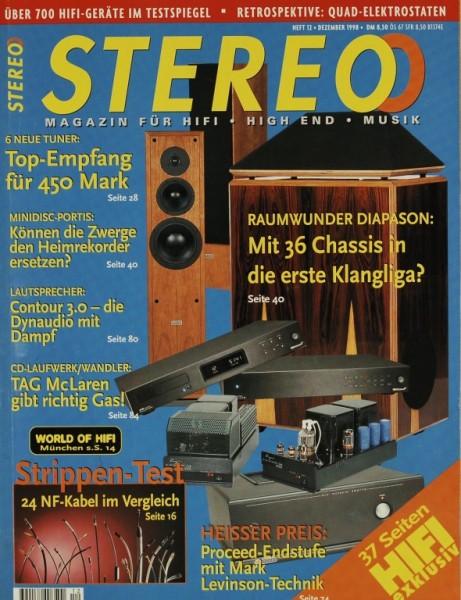 Stereo 12/1998 Zeitschrift