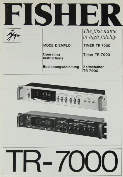 Fisher TR-7000 Bedienungsanleitung