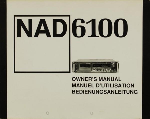 NAD NAD 6100 Bedienungsanleitung