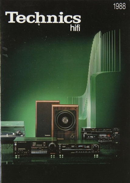 Technics Gesamtkatalog 1988 Prospekt / Katalog