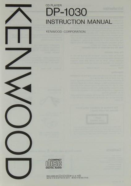 Kenwood DP-1030 Bedienungsanleitung