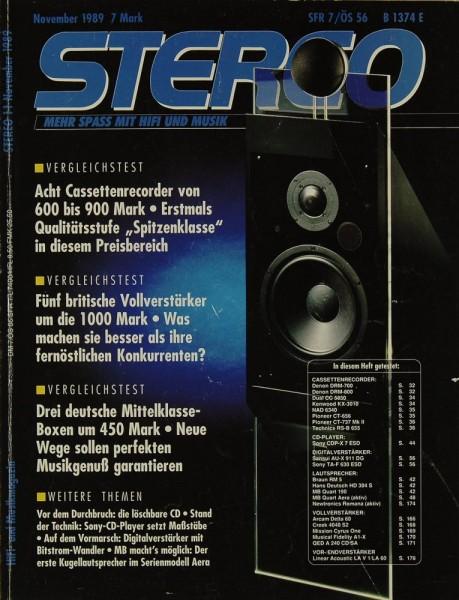 Stereo 11/1989 Zeitschrift