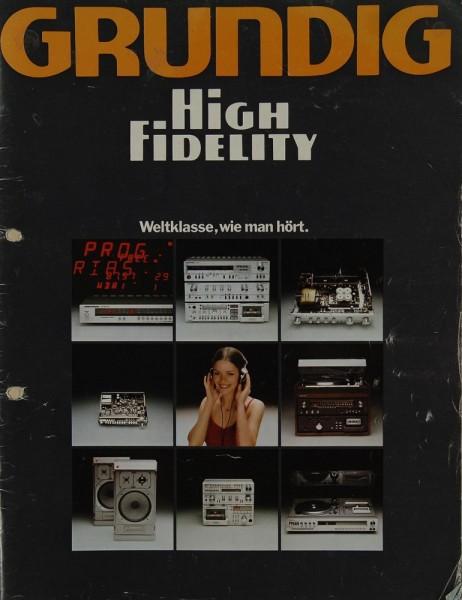 Grundig High Fidelity Prospekt / Katalog