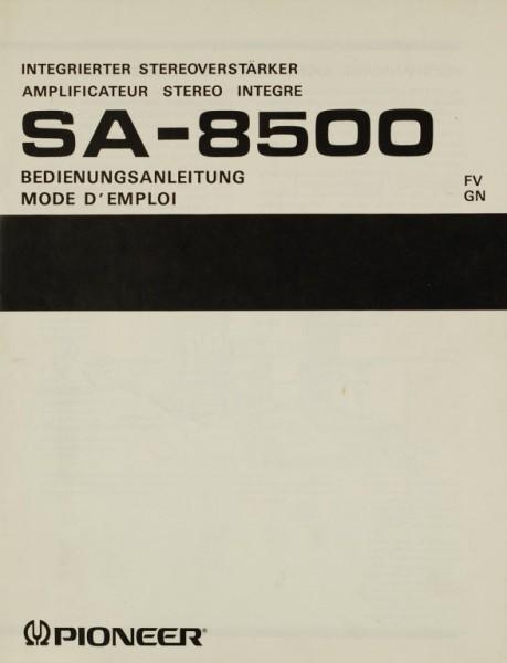 Pioneer SA-8500 Bedienungsanleitung