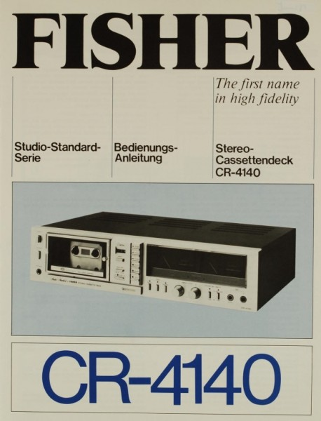 Fisher CR-4140 Bedienungsanleitung
