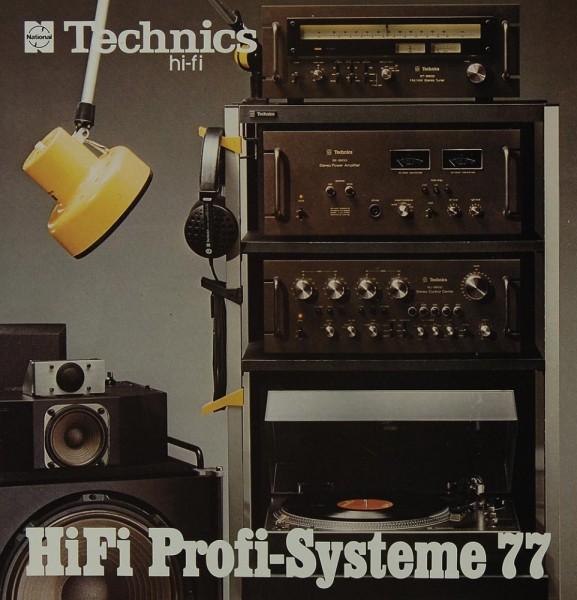 Technics Hifi Profi-Systeme 77 Prospekt / Katalog