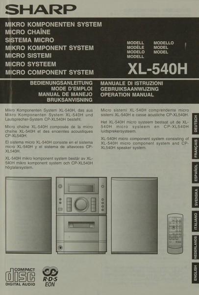 Sharp XL-540 H Bedienungsanleitung