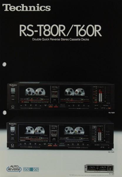 Technics RS-T 80 R / T 60 R Prospekt / Katalog