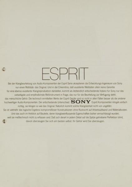 Sony Esprit Prospekt / Katalog