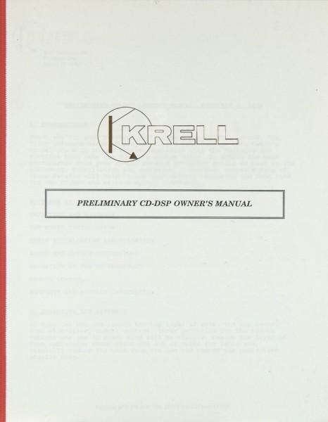 Krell CD-DSP Bedienungsanleitung