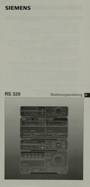 Siemens RS 320 Bedienungsanleitung