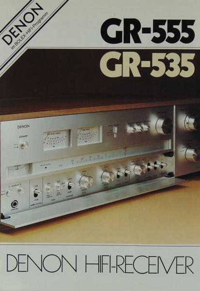 Denon GR-555 / GR-535 Prospekt / Katalog