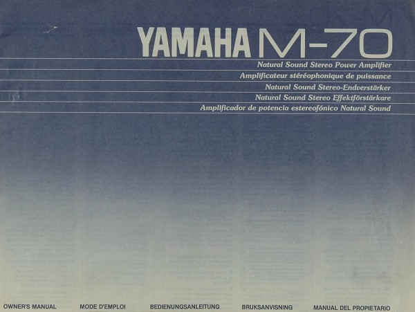Yamaha M-70 Bedienungsanleitung