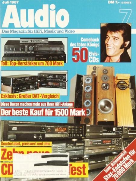 Audio 7/1987 Zeitschrift