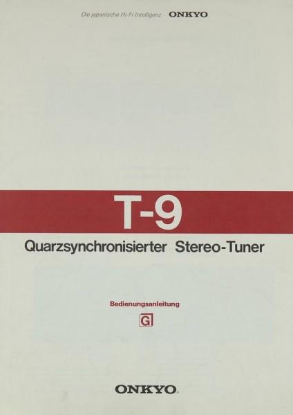 Onkyo T-9 Bedienungsanleitung