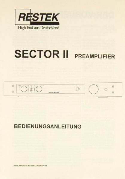 Restek Sector II Bedienungsanleitung