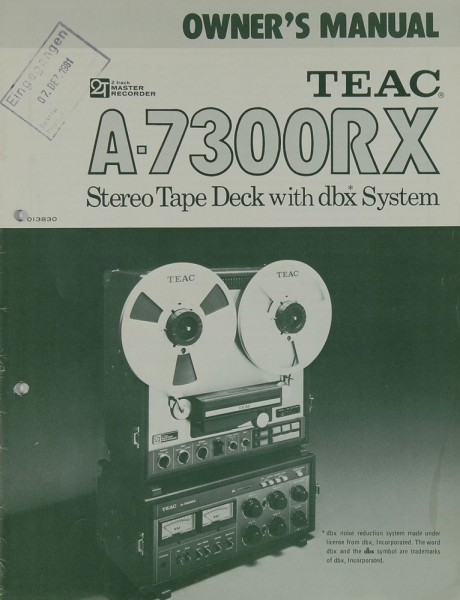 Teac A-7300 RX Bedienungsanleitung