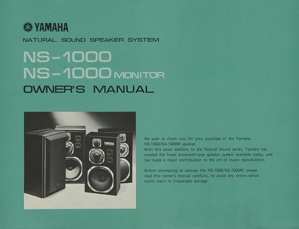 Yamaha NS-1000 7 NS-1000 Monitor Bedienungsanleitung