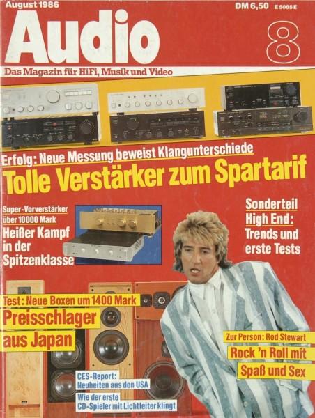 Audio 8/1986 Zeitschrift
