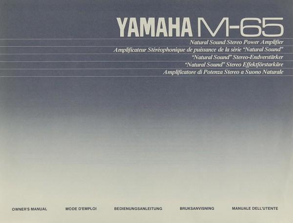 Yamaha M-65 Bedienungsanleitung