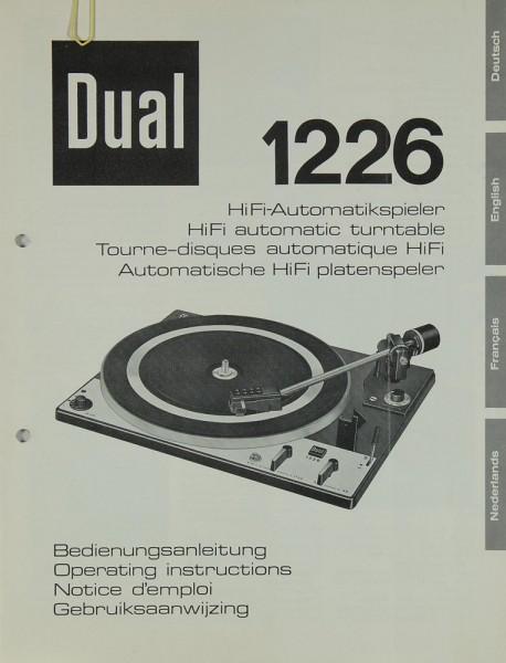 Dual 1226 Bedienungsanleitung