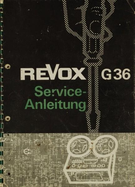 Revox G 36 Schaltplan / Serviceunterlagen