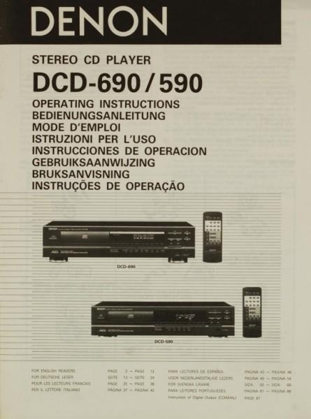 Denon DCD-690 / 590 Bedienungsanleitung