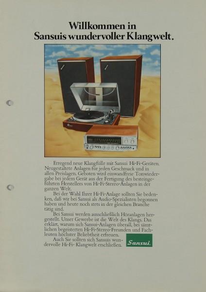 Sansui Willkommen in Sansuis wundervoller Klangwelt Prospekt / Katalog