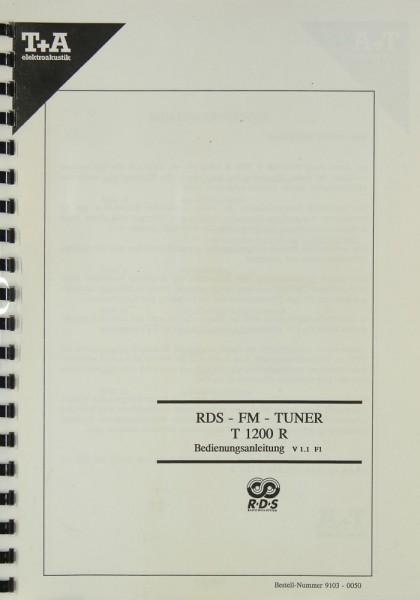 T + A T 1200 R Bedienungsanleitung