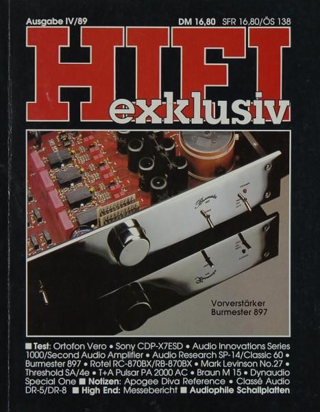 Hifi Exklusiv IV / 89 Zeitschrift