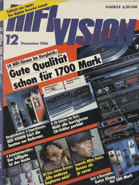 Hifi Vision 12/1986 Zeitschrift