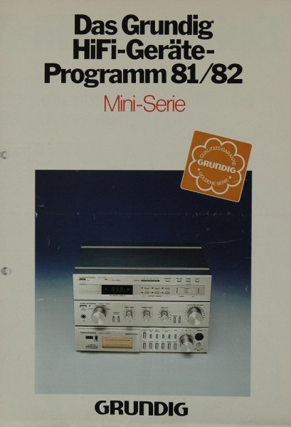Grundig Programm 81/82 Mini Serie Prospekt / Katalog