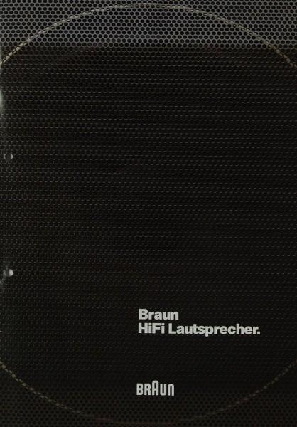 Braun Hifi Lautsprecher 1982 Prospekt / Katalog