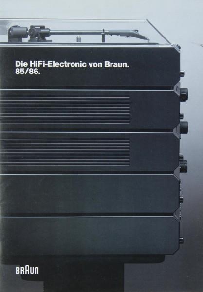 Braun Katalog 1985/1986 Prospekt / Katalog