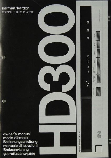 Harman / Kardon HD 300 Bedienungsanleitung