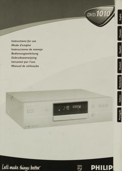 Philips DVD 1010 Bedienungsanleitung