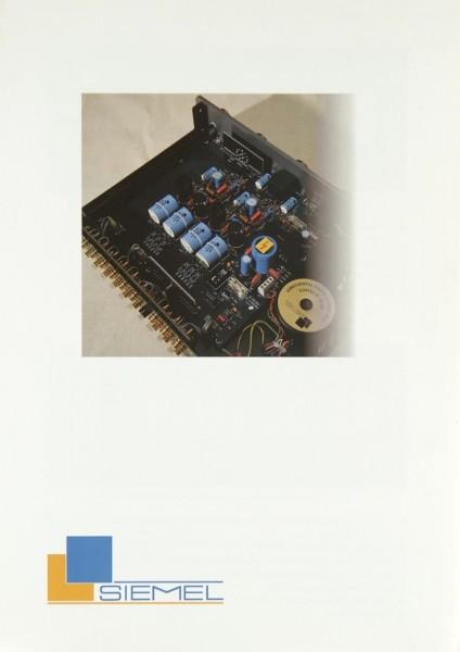 Siemel TU-10 / TR-20 / TA-20 / MM-20 / MC-20 Prospekt / Katalog