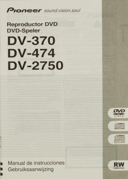 Pioneer DV-370 / DV-474 / DV-2750 Bedienungsanleitung