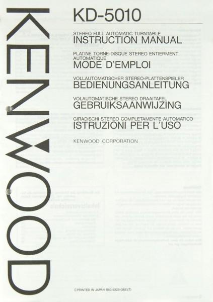 Kenwood KD-5010 Bedienungsanleitung
