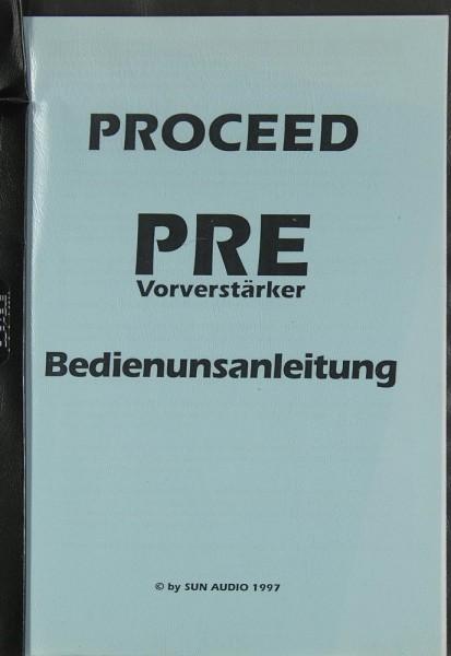 Proceed PRE Bedienungsanleitung