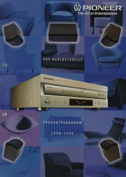 Pioneer Produktprogramm 1998-1999 Prospekt / Katalog