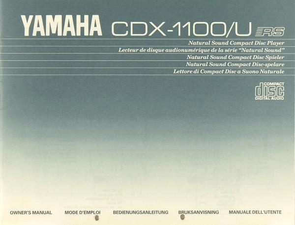 Yamaha CDX-1100/U Bedienungsanleitung